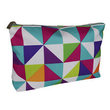 Clinique Multi-color Triangles Cosmetic Makeup Travel Bag