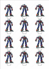 Novelty Transformers Optimus Prime Edible Cake Cupcake Toppers Birthday Popular