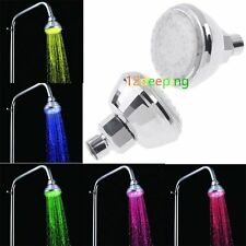 Romantic Water Glow 7 Colors Changing LED Light Shower Heads for Bathroom DE