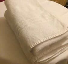 10x White Bath Sheets Ex-Hotel Condition