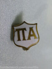 Vintage Gold Filled White Enameled Pi Alpha National Honor Society Badge