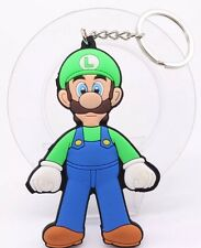 Super Mario Bros Luigi Soft Rubber Keychain Double Sided 3 Inches US Seller