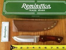 REMINGTON USA CONQUEST FIXED BLADE CLIP POINT KNIFE LEATHER SHEATH 18343 RARE!