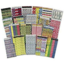 Mega Pencil Assorted Designs 250 pc Bulk Back to School and Teaching Supplies