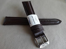 New ZRC France Brown Padded Water Resistant 18mm Watch Band Chrome Buckle $24.95