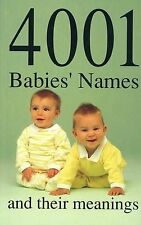 4001 Babies' Names and Their Meanings, Glennon, James, New Condition