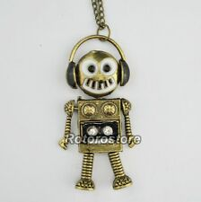 Music Robot with Movable Parts Vintage Necklace - Beautiful Women Jewellry - NEW