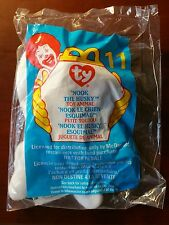"MC DONALDS HAPPY MEAL TOY 1999 #11 TY Teenie Beanie Baby ""Nook the Husky"" - NIP"