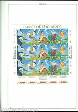 PALAU  CHRISTMAS 1989 SHEET IMPERFORATED PROOF ON WALSALL FOLDER  RARE