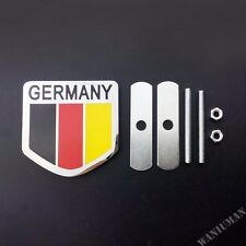 Germany Flag Car Front Grille Grill Emblem Badge Decal Sticker Fit For Audi BMW