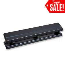 3 Hole Desktop Punch 12 sheets capacity for School Office Good Quality NEW Black