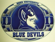 "Stained Glass Window Sticker NCAA Duke Blue Devils NEW 17""x11"" Made in USA Decal"