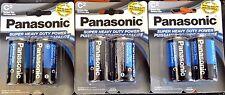 6 Size C Panasonic Super Heavy Duty Carbon Zinc Battery Batteries FAST SHIP