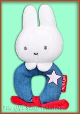NEW MIFFY PLUSH LOOP RING RATTLE - DENIM  BLUE - BABY GIFT SUPER SOFT TOY 0+