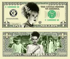 BRIDE OF FRANKENSTEIN Classic Monster Novelty Bill with Protector and Free ship