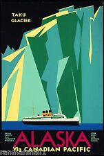 Alaska via Canadian Pacific Vintage United States Travel Advertisement Poster