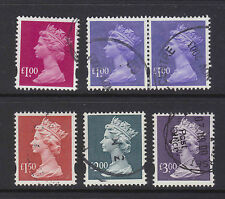 Selection of  6 QEII HV eliptical decimal stamps used in a good condition