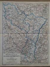 Landkarte Deutsches Reichsland Elsass-Lothringen, Ravenstein Hildburghausen 1872