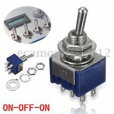 1PCS 6 Pin 3 Posición ON-OFF-ON DPDT Mini Latching Toggle Interruptor AC 125V/6A