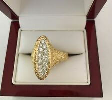 Vintage Cartier 18K Yellow Gold Diamond Ladies Ring Size 10 France