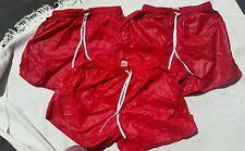 Shiny Nylon Wetlook Glossy Plastic Look Paper Thin Slippery Shorts lot of 3 Sz M