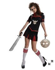 Women's Adult Jason Voorhees Corset Cheerleader Costume Friday the 13th Sz Large