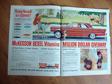 1960 McKesson Bexel Viaamins Million Dollar Giveway Ad  1961 Mercury Comet