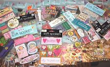 LOT 25 pkgs of SCRAPBOOKING STICKERS  EMBELLISHMENTS - Jolee's SOFT SPOKEN ++