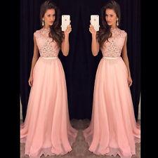 Elegante lange formale Abschlussball -Kleid mit Spitze Abendkleider Brautjungfer