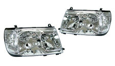 Toyota LAND CRUISER PRADO FJ100 Pair CHROME CLEAR Headlights Headlamps NEW