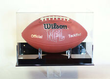 Football wall mount full size display case 85% UV filtering acrylic NFL NCAA