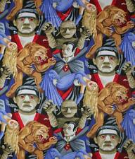 HORROR MOVIES PURPLE FRANKENSTIEN QUILT CRAFT FABRIC SOLD BY FQ FREE OZ POST