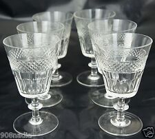 VINTAGE WINE OR WATER GLASS SET 6 QUILTED PATTERN STEMWARE