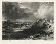 "John Constable / David Lucas ""A Heath"" mezzotint engraving"