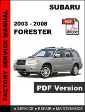 SUBARU FORESTER 2003 - 2008 FACTORY SERVICE REPAIR SHOP MANUAL + WIRING DIAGRAM