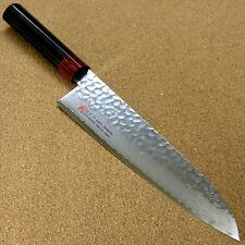 "Japanese SETO-I Kitchen Gyuto Chef Knife 210mm 8.3"" Damascus Hammered SEKI JAPAN"