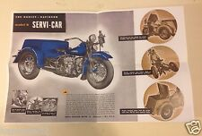 1930-1999,Harley,Serv-car,trike,G,GG,sales,flyer,45,box,chassis,advertising,