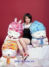 "Plush Stuffed Rabbits Mashimaro Toy Doll 28""H 3COlORS"