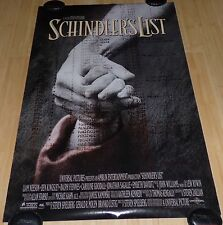 SCHINDLER'S LIST 1993 ORIG ROLLED DS 1 SHEET MOVIE POSTER LIAM NEESON SPIELBERG