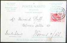 Esperanto – PK Propaganda – Autograph Oscar van Schoor – gelaufen 1911
