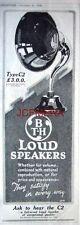 'B T-H' Type C2 Loudspeakers; 1926 Advert - Original Art Deco Print AD.