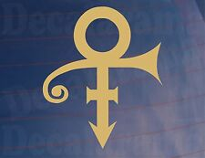 PRINCE SYMBOL Novelty/Tribute Car/Van/Window/Bumper/Laptop Gold Sticker/Decal