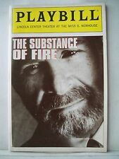 SUBSTANCE OF FIRE Playbill RON RIFKIN / SARAH JESSICA PARKER NYC 1992