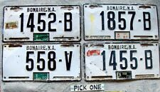 Free Shipping: BONAIRE License Plate Tag -  PICK ONE: 1976 thru 1981