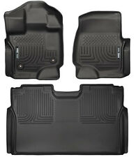 Husky Liners Weatherbeater Front & Rear 2nd Row Floor Mats 15-16 F-150 SuperCrew