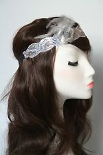 Silver 1920's Headband Flapper Charleston Headpiece Great Gatsby