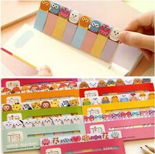 160 Pages Cartoon Animal Sticker Post It Marker Bookmark Memo Flags Sticky Notes