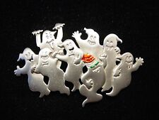 """JJ"" Jonette Jewelry Silver Pewter 'GHOST Party' Pin ~ Party like it's 1999!"