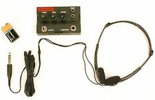 GUITAR & BASS HEADPHONE AMPLIFIER & HEADSET CLEAN TO METAL 9V DURACELL INCLUDED