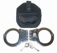 PROFESSIONAL CHROME HINGE HIGH QUALITY SECURITY HANDCUFFS metal cuffs 2 keys NEW